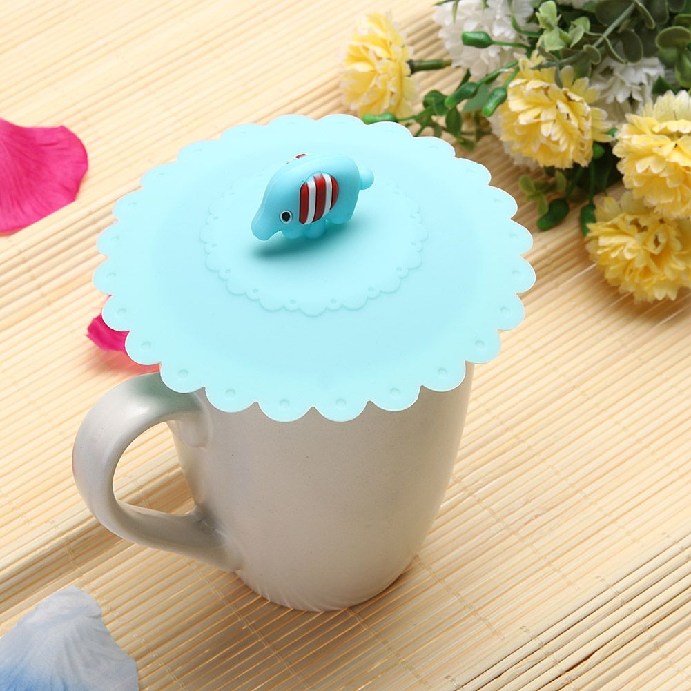 1pcs 10 5cm Cute Anti Slip Anti Dust Silicone Cup Cover Coffee Cup Suction Seal Lid Cap Airtight Love Spoon Novelty Affil Love Spoons Pretty Mugs Coffee Cups