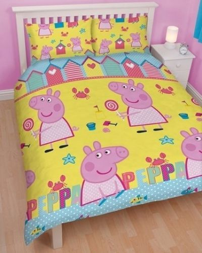 Peppa Pig 'seaside' Reversible Rotary Double Bed Duvet Quilt Cover ... : peppa pig quilt cover set - Adamdwight.com