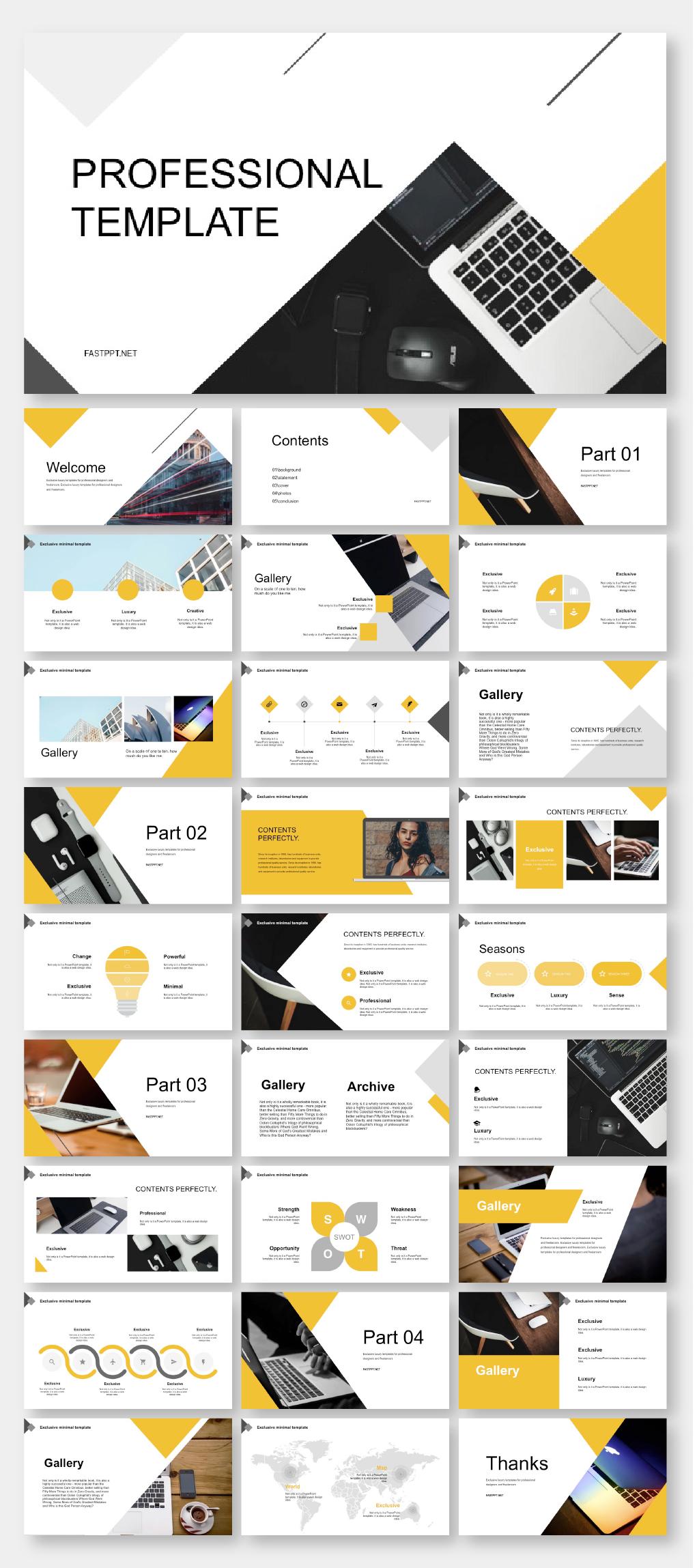 Black Yellow Business Presentation Template Original And High Quality Powerpoint Templates Business Presentation Templates Presentation Design Layout Presentation Slides Design