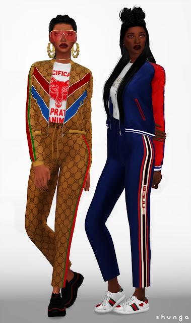 SHUNGA  GUCCI Jogging Pants, Bomber Jacket, Sweatshirt   Hooded Dress 0257e5f42f9