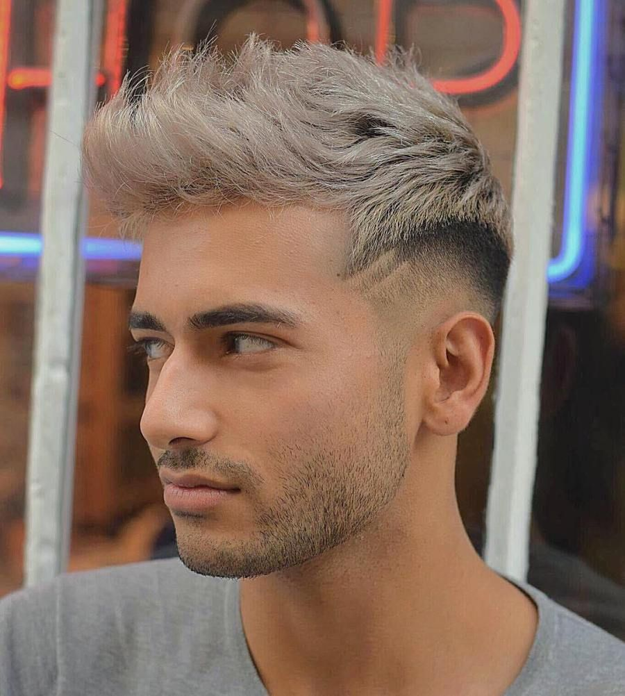45 Mid Fade Haircuts That Are Stylish Cool Updated For August 2020 Mid Fade Haircut Dyed Hair Men Platinum Blonde Hair Men
