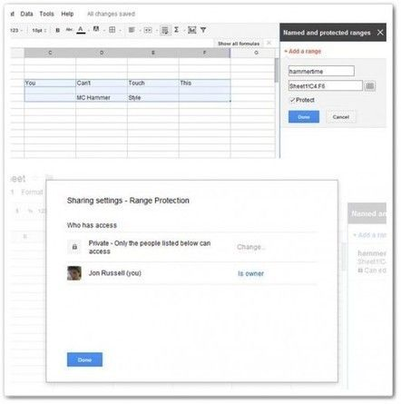 Google updates Spreadsheets with data locking, enhanced search and - google docs spreadsheet