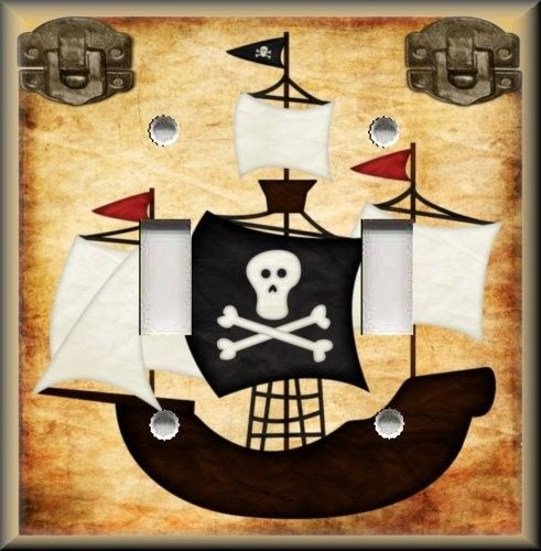 Metal Light Switch Plate Cover - Pirate Ship Home Decor Pirate Decor ...