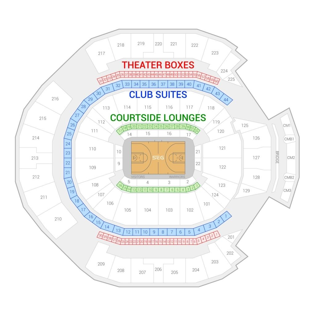 Warriors Seating Chart Seating Charts Game Arena Golden State Warriors Basketball