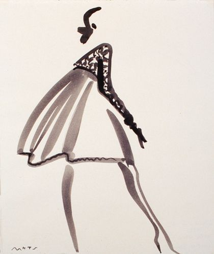 Fashion Illustration by Mats Gustafson (Swedish, | http://my-top-world-fashion-models.blogspot.com