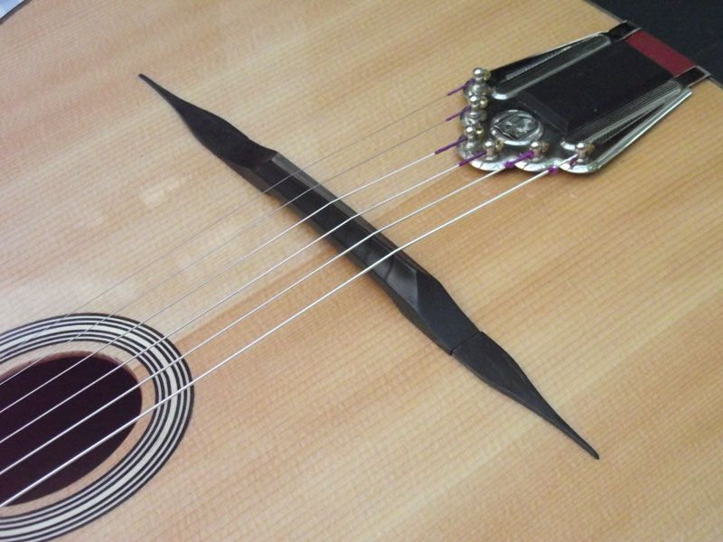 Dell Arte gypsy jazz guitar bridge reprofile #gypsysetup