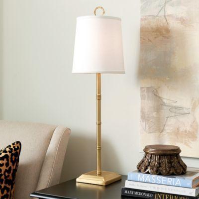 Bamboo Buffet Lamp Lamps, Gold Buffet Table Lamps