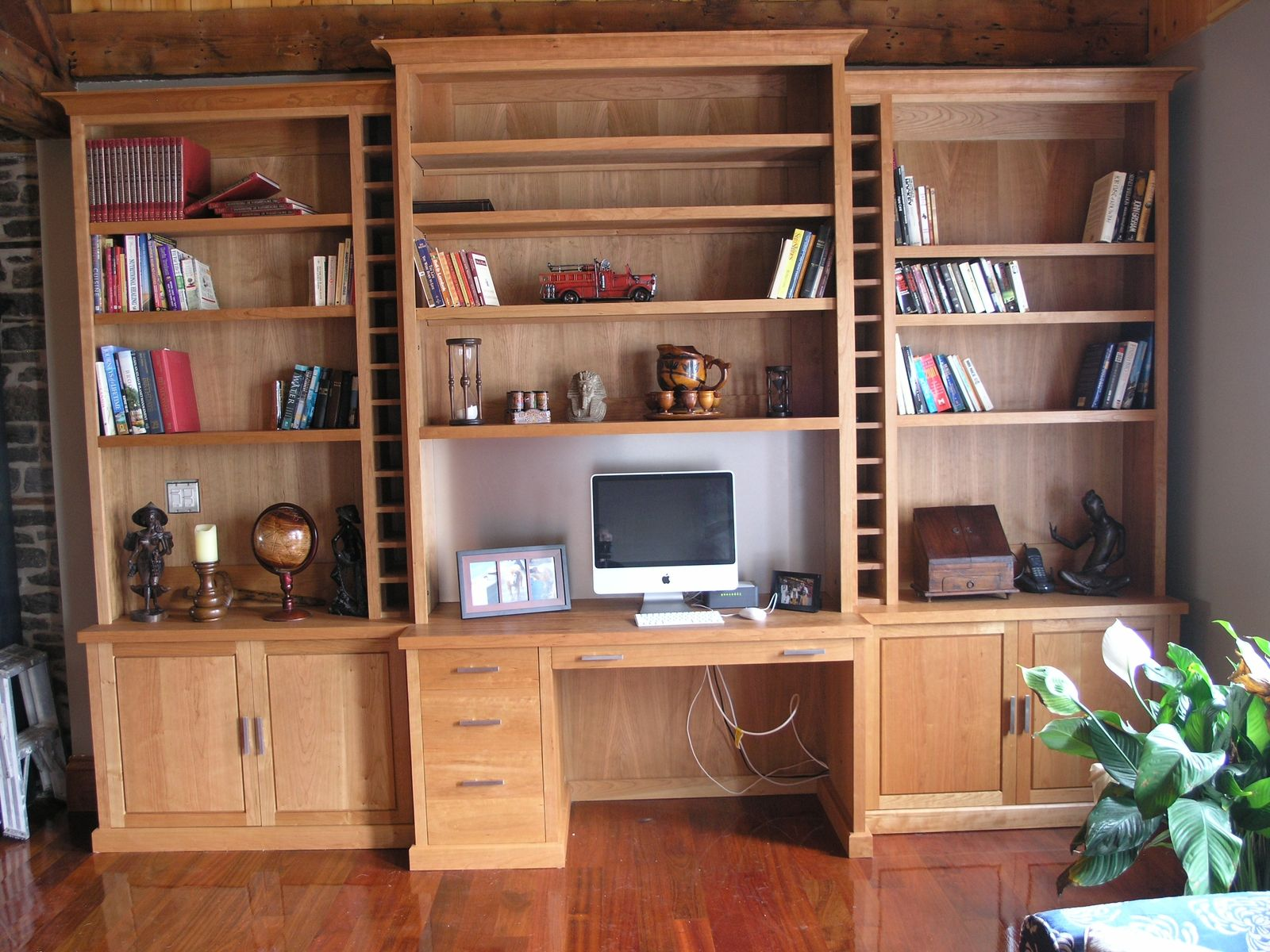home office furniture wall units. Painting Of Wall Units With Desk And Bookcase Plus Cabinets Home Office Furniture E
