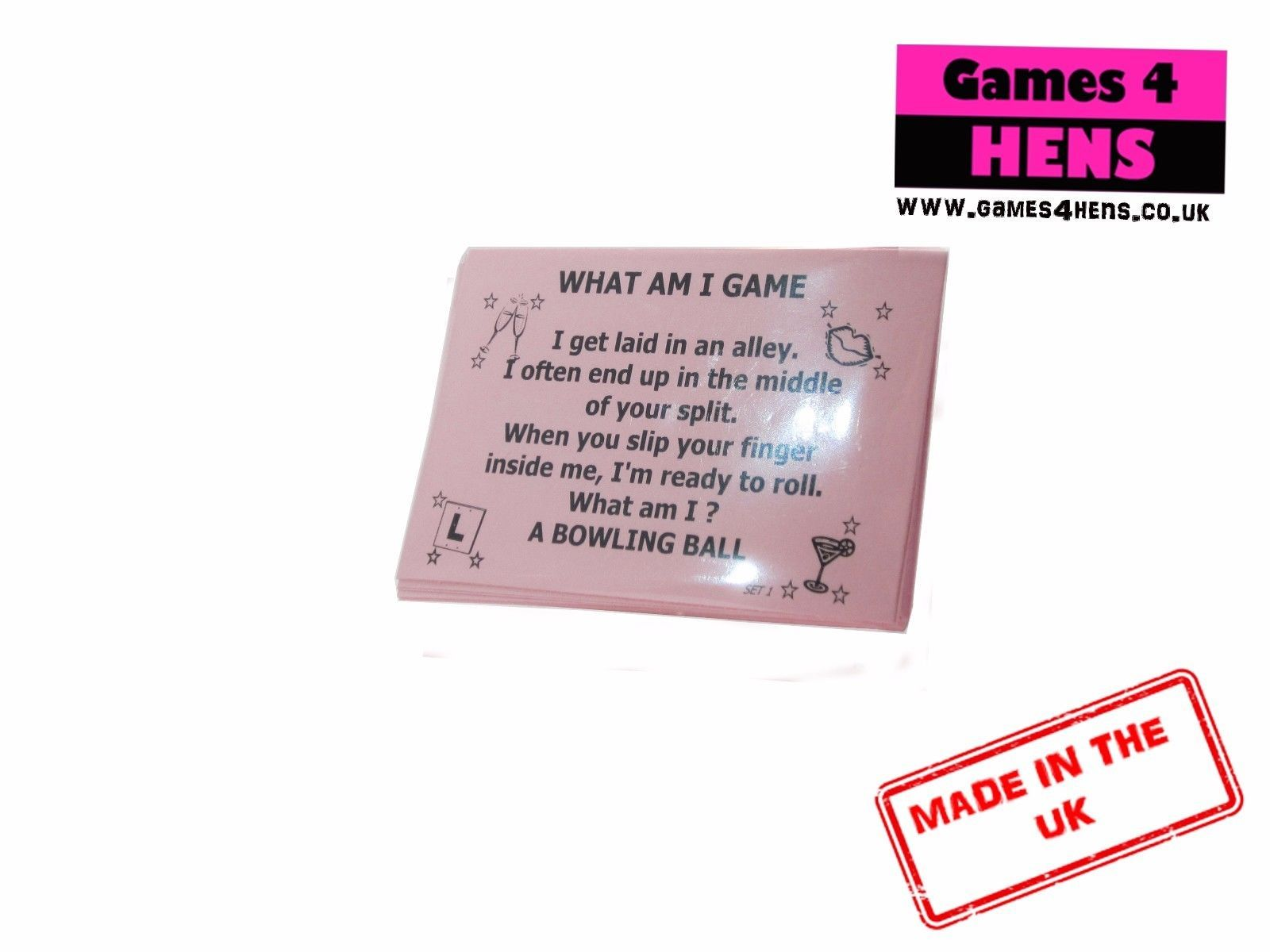 What Am I Innuendo Hen Party Game Riddle Hen Do Game Funny Classy ...