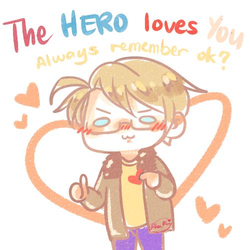 The hero always loves you!<3 #america #hetalia