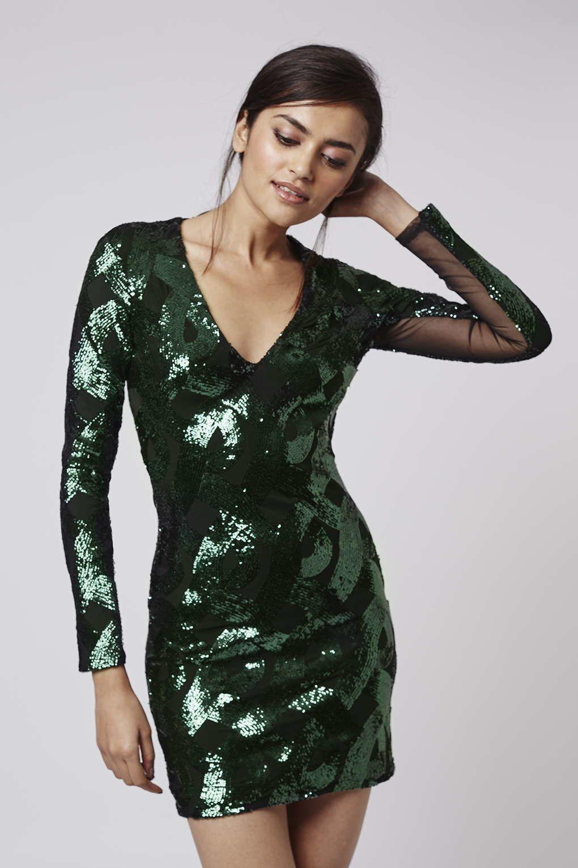 Vestido verde para nochevieja