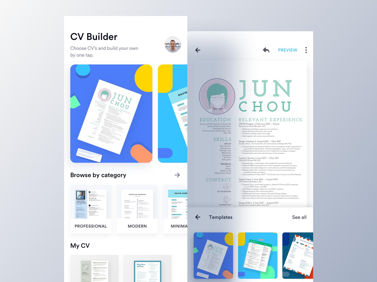 EZY CV Builder App (Home & Editor) Cv maker, App home
