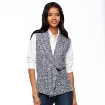 Chaps Marled Sweater Vest - Women's @kohls | Trend We Love ...