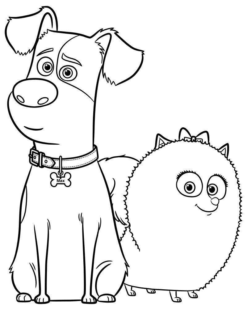 Secret Life Of Pets Coloring Book The Secret Life Of Pets Coloring Pages Print Them For Free In 2020 Coloring