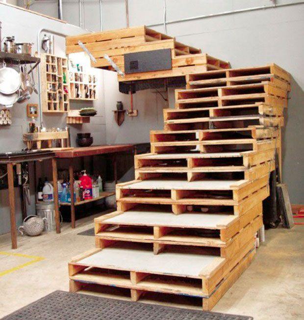34 astuces ingnieuses pour transformer les palettes de bois en meubles originaux - Transformer Des Palettes En Meuble