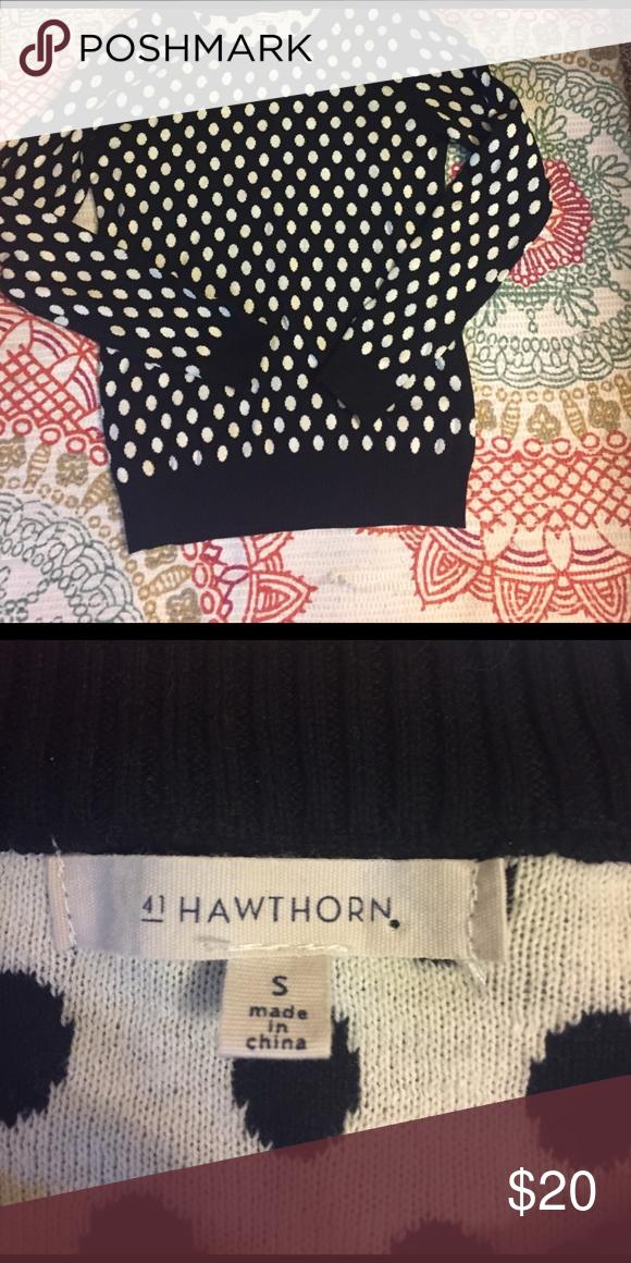 Polka Dot Crew Neck Sweater NWOT Polka Dot Crew Neck Sweater by 41 Hawthorn. Never worn. 41 Hawthorn Sweaters Crew & Scoop Necks
