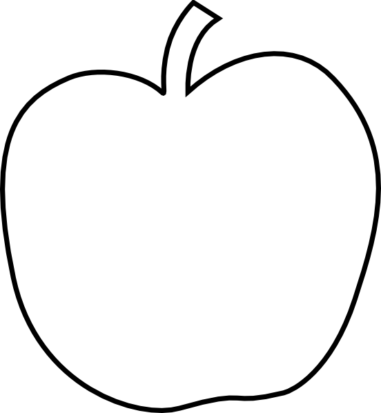 image regarding Apple Stencil Printable titled Heavy Apple Template  sewing guidelines Apple