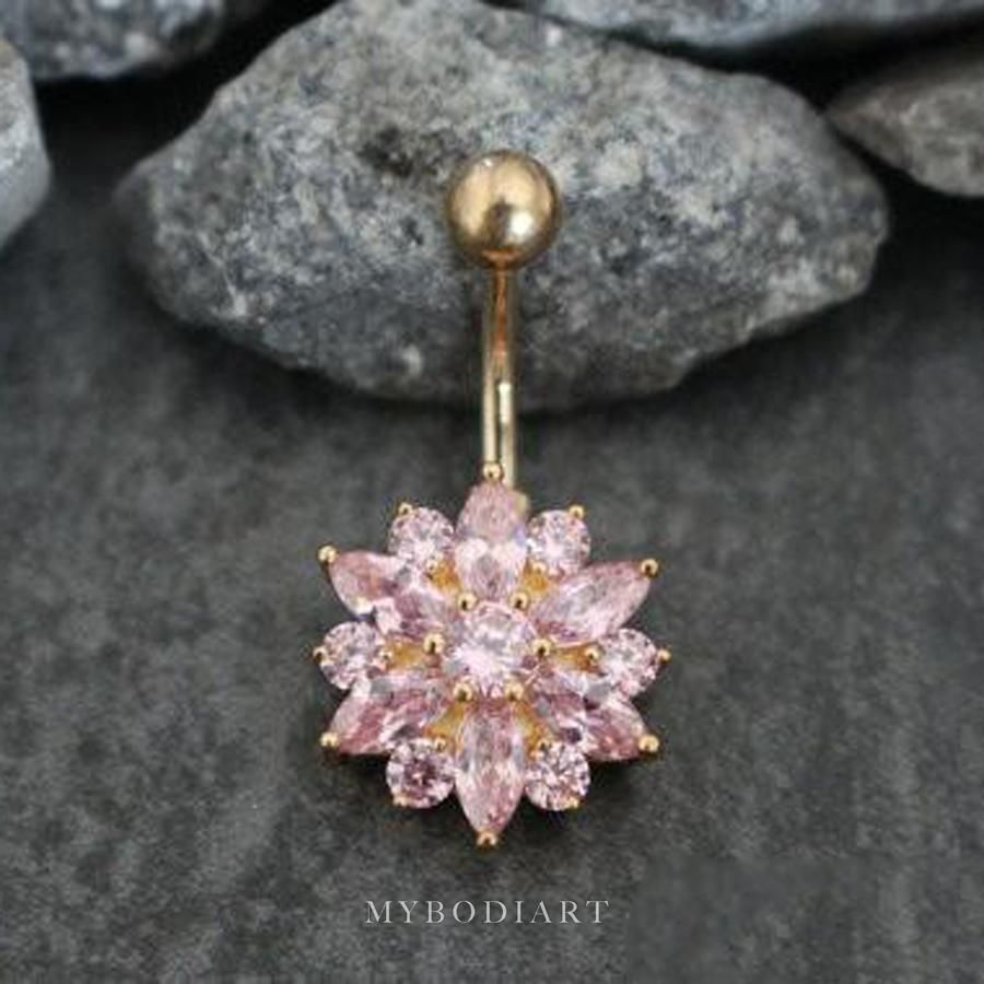 special sales united states delicate colors Janie Swarovski Chrysanths Belly Ring in 2019 | Belly rings ...