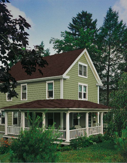 Images of houses with green siding find archived press for Sustainable siding