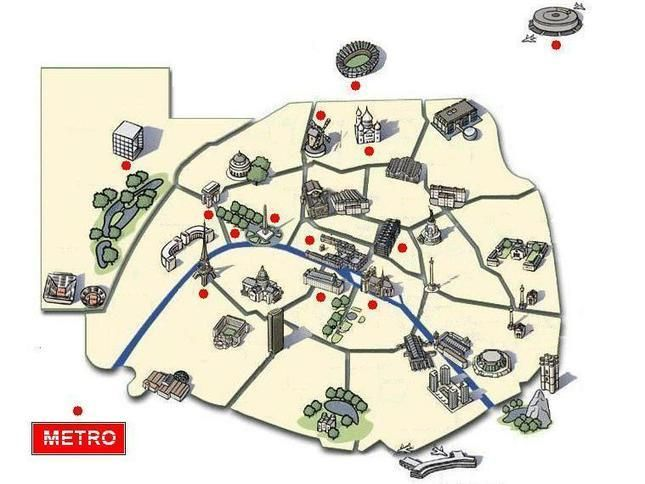 Populaire Carte interactive: exercices sur les monuments de Paris | French  KE39