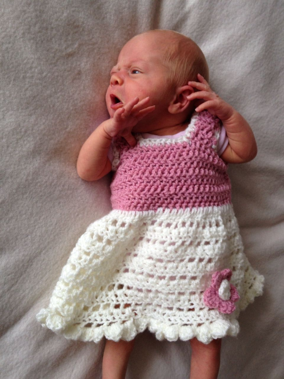 Free crochet pattern-newborn frilly flower dress | Yarnibles ...