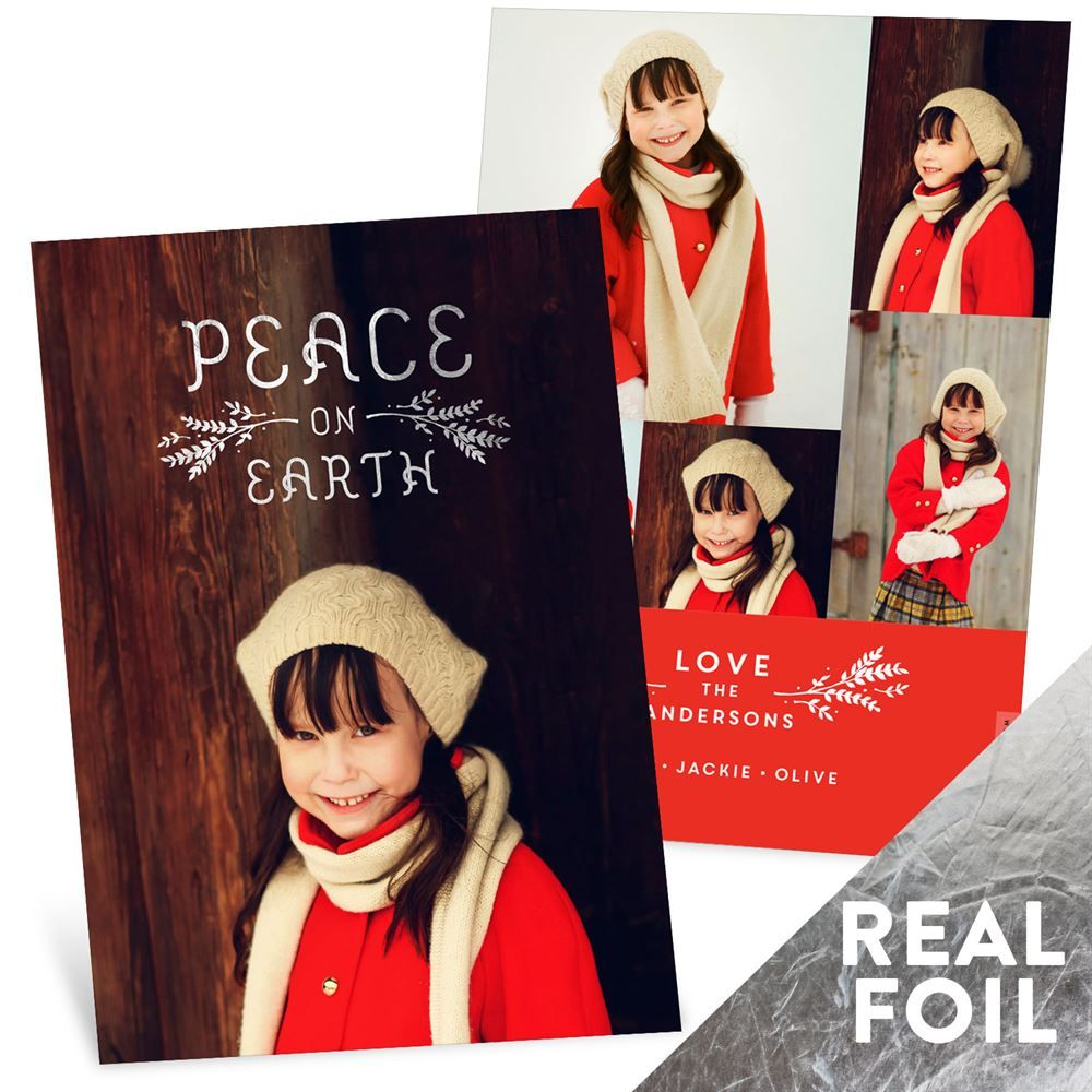 Foil Peace Christmas Cards Pear Trees Christmas Cards And Cards