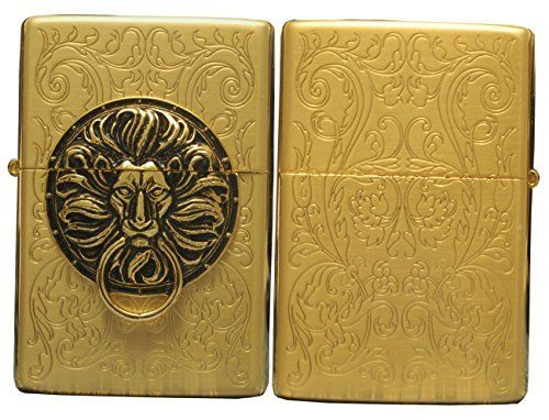 Zippo Lighter Genuine Tiger Lion Design The Gate Gd Emblem Zippo Lighter Zippo Lion Design