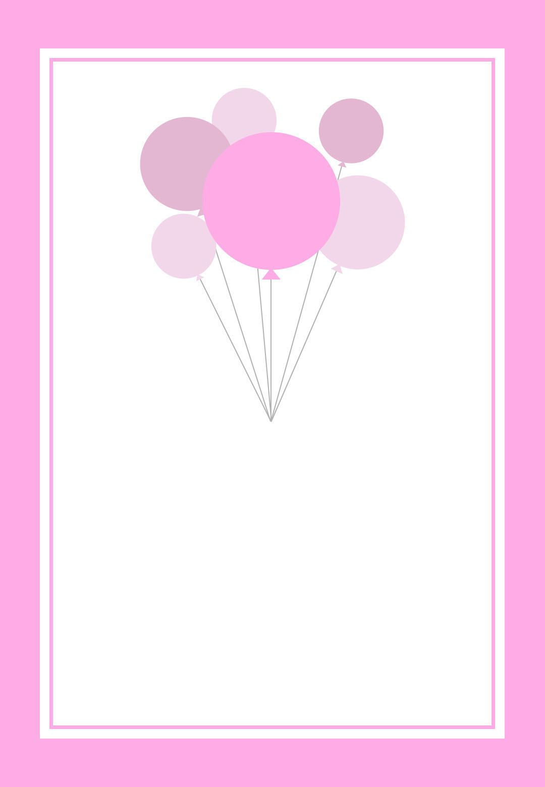 free printable pink balloons invitation