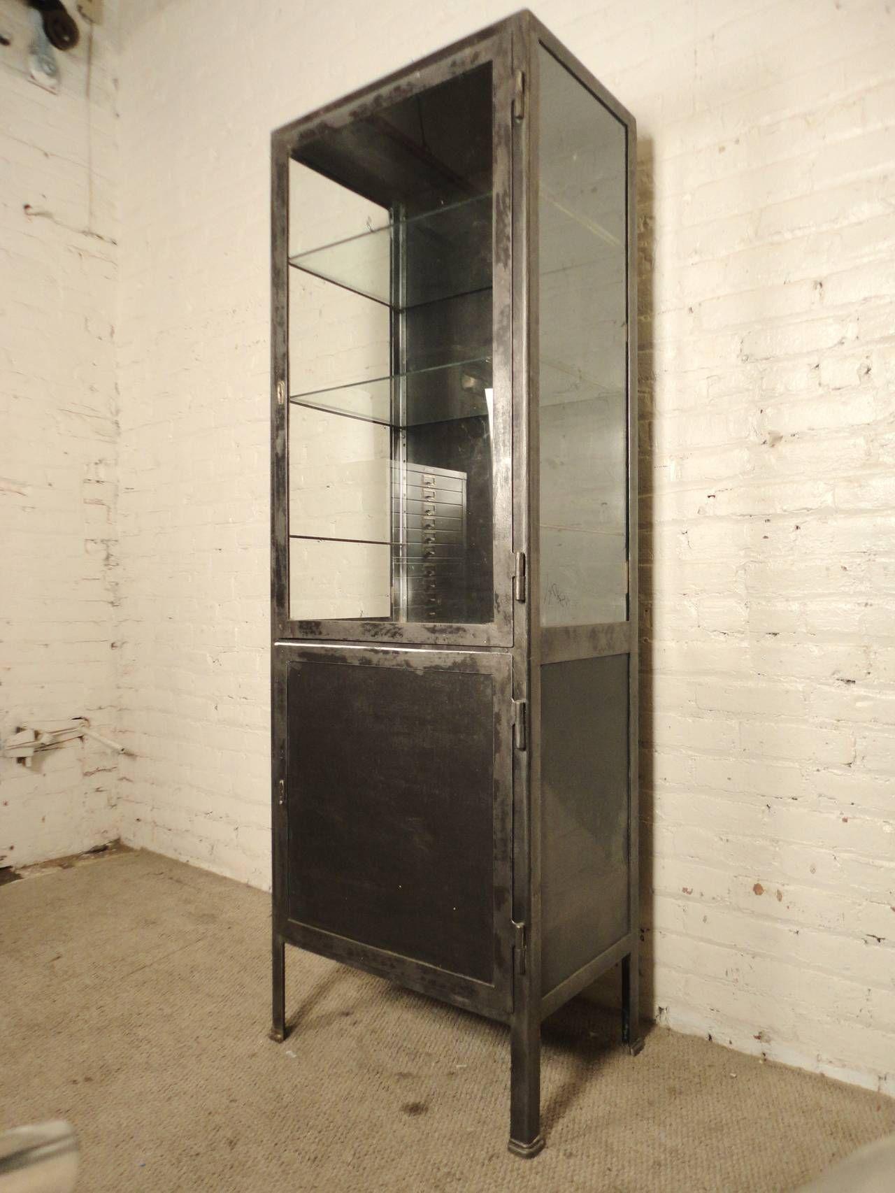 Tall Furniture Cabinets Tall Industrial Metal Display Cabinet Industrial Metal Antiques