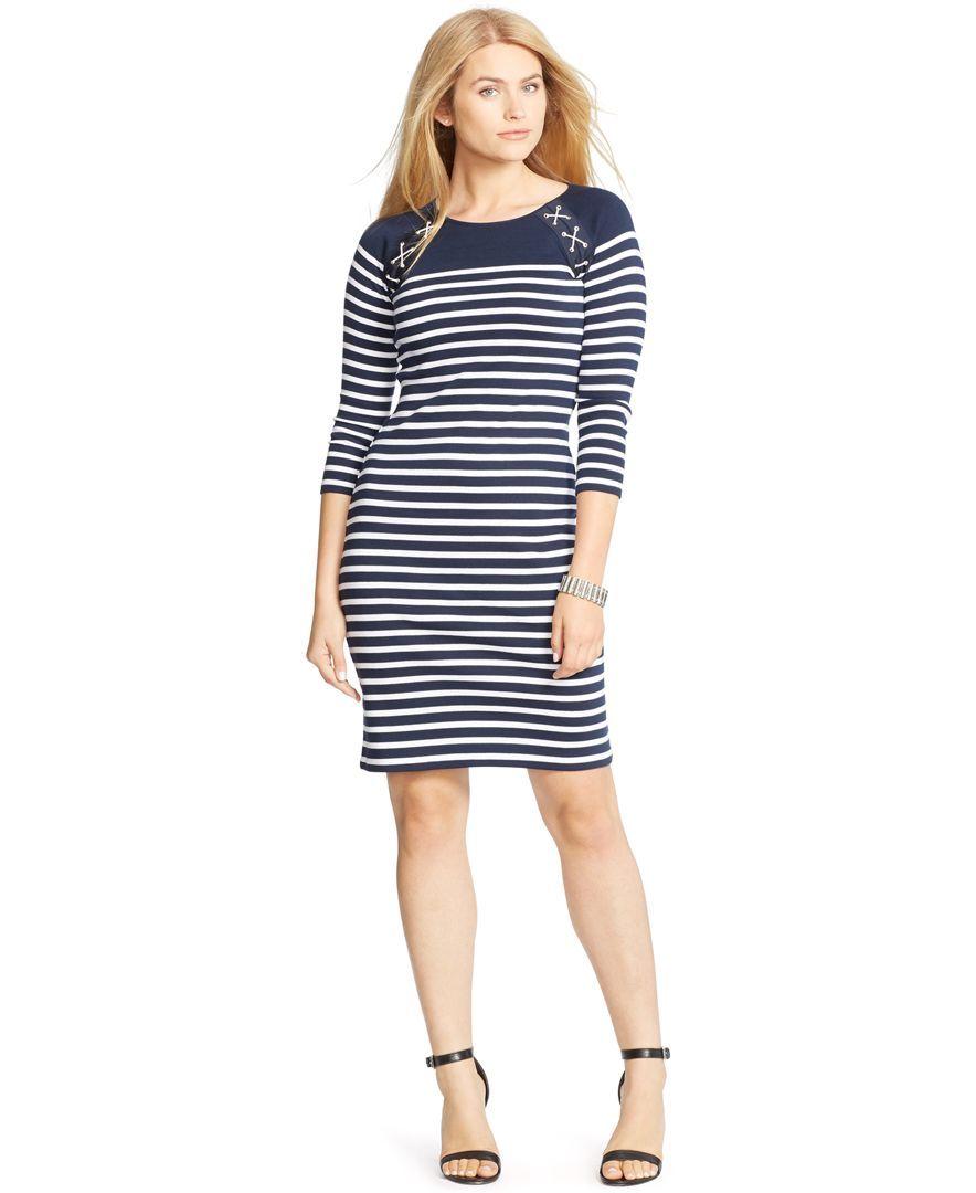 Lauren Ralph Lauren Plus Size Half Zip Sweater Dress Dress Me Up