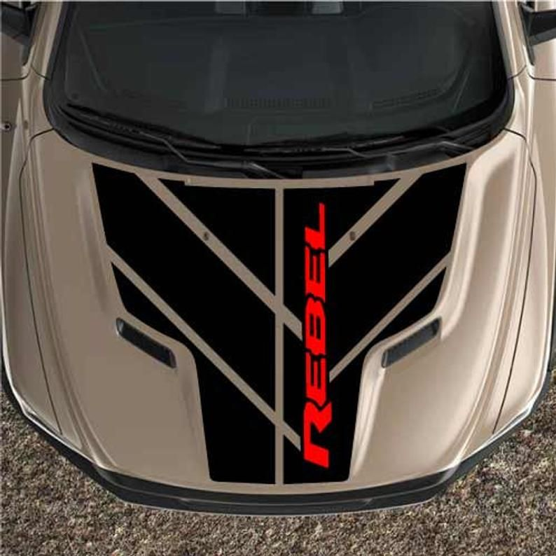 2 Color Dodge Ram Sport Hood Modern 1500 Stripes Race