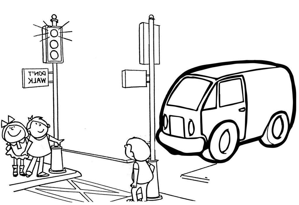 Minibus Van Cartoon Coloring Page Coloring Pages Cartoon Coloring Pages Cool Vans