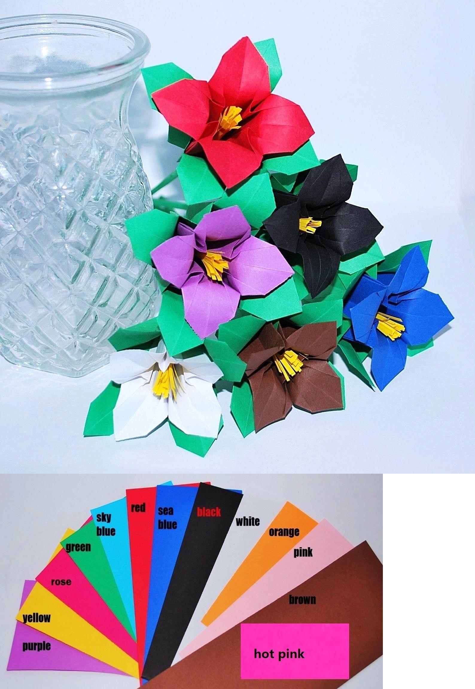 Origami 134596 Origami Violet Paper Flower Bouquet Unique Gift