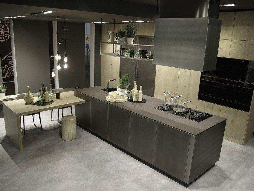 Cucina in alluminio con isola OPERA | Cucina con isola by Snaidero ...