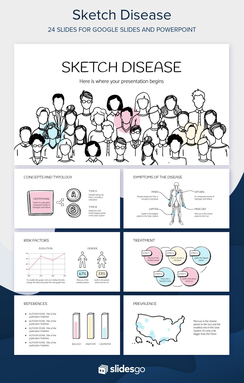 Sketch Disease Free Presentation Presentasi Desain