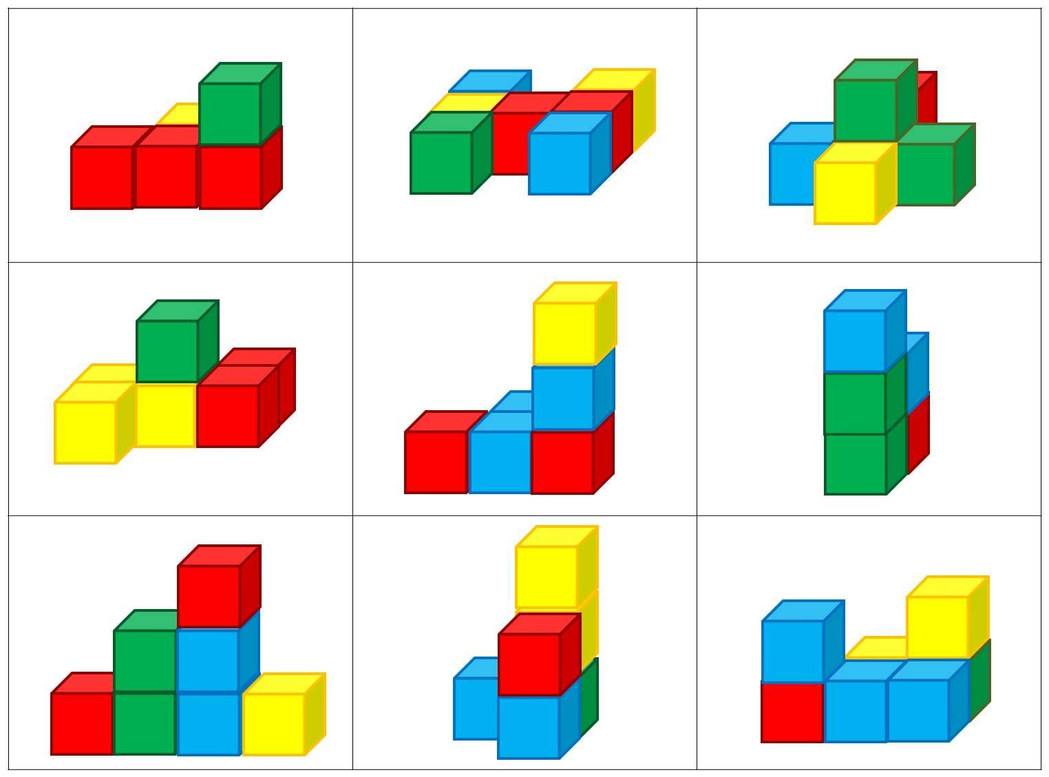 Kleur en vorm: Blokkenbouwsels | living... | Pinterest | Math ...