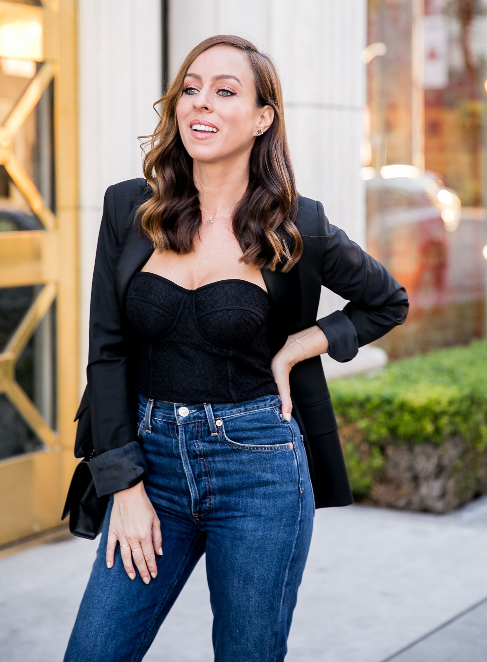How to wear the corset and jeans celebrity style trend
