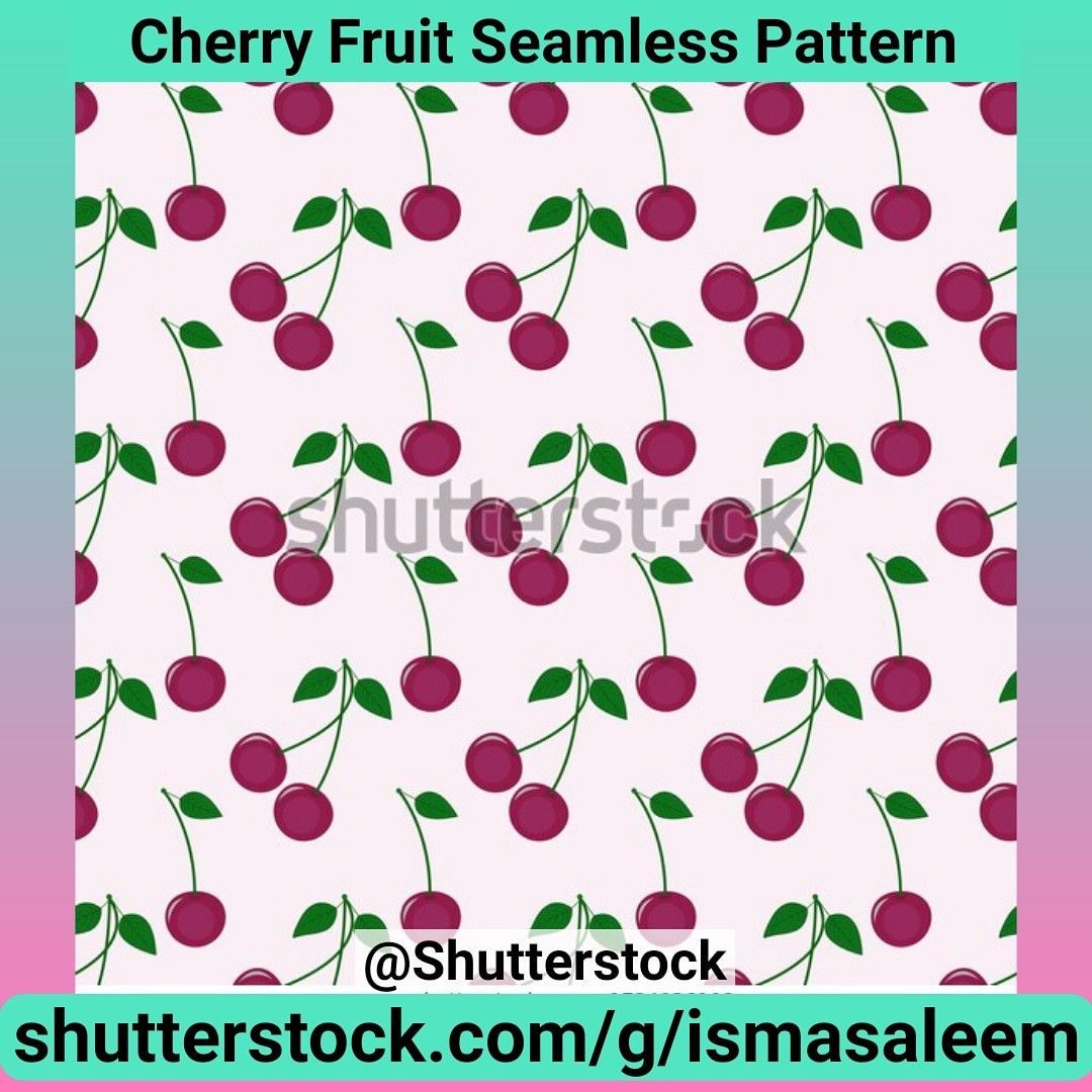 Cherry Fruit Seamless Pattern at Shutterstock by Isma Saleem @shutterstock #shutterstock #pattern #patternillustration #printandpattern #repeatpattern #surfacepattern #illustration #illustrationart #illustrationartist #cherry #cherryfruit #fruitillustration #fruity #textile #foodart #fruitart #seamlesspattern #textiledesign #textile #vector #vectorart