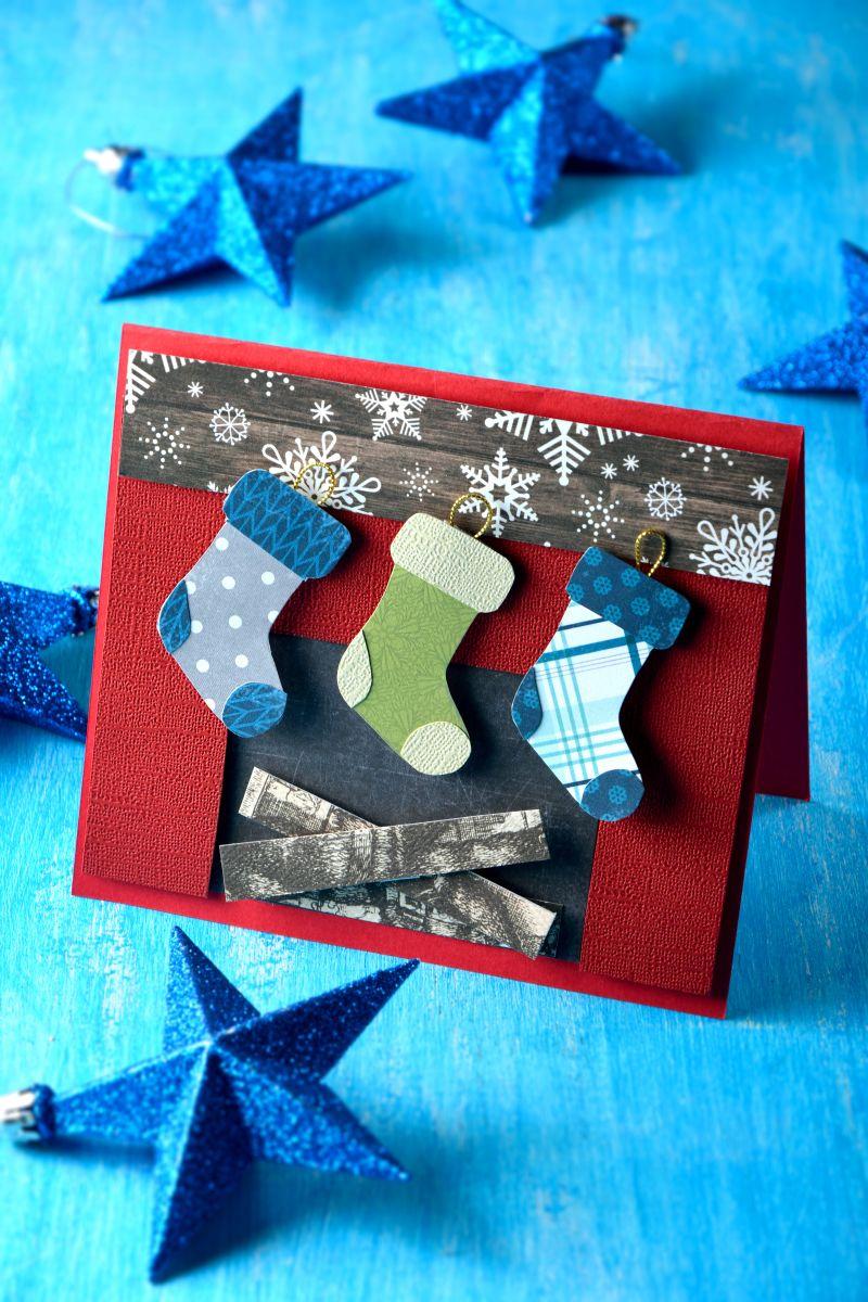 C mo hacer una tarjeta para navidad tarjetas decoradas - Hacer una postal de navidad ...