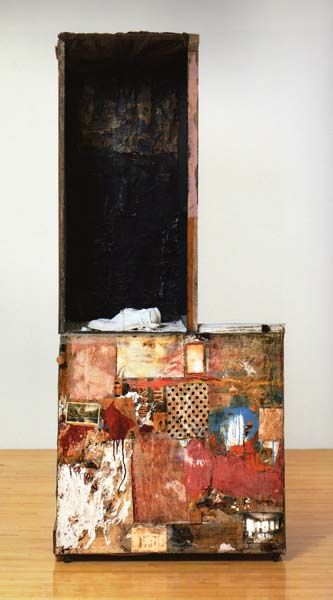 Robert Rauschenberg. Untitled (Man with the white shoes) (back). 1954.