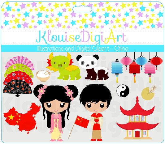 cute clip art dolls dolls of the world china chinese new year culture personal and small commercial use