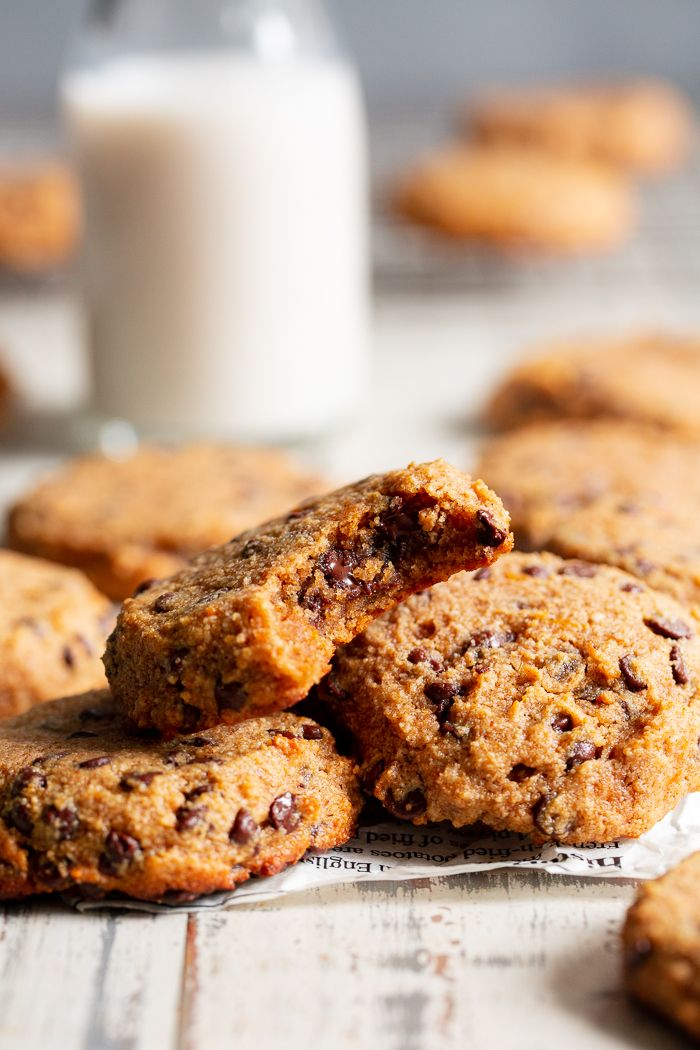 Paleo Chocolate Chip Cookies with Sweet Potato |