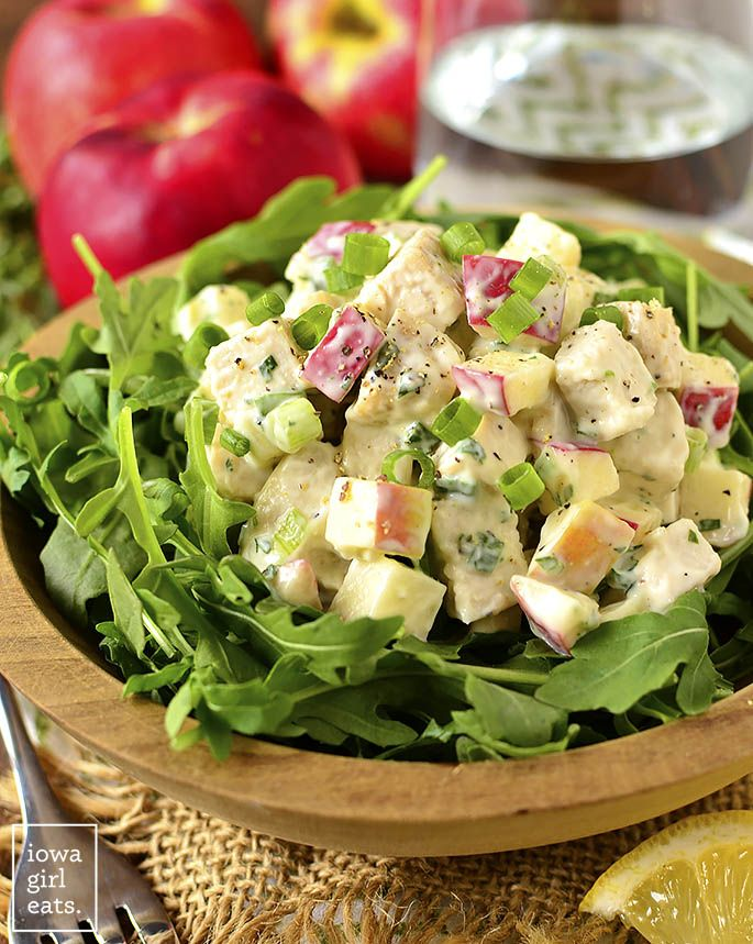 Apple Tarragon Chicken Salad Recipe Healthy Options Salad