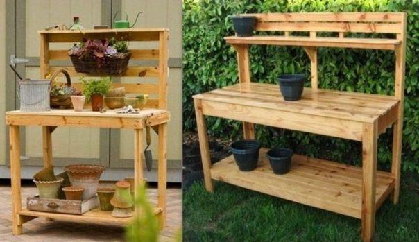 Idées pour faire une table à rempoter en récup ! | Outdoor kitchens ...