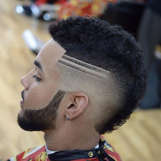 Tres lineas corte de pelo