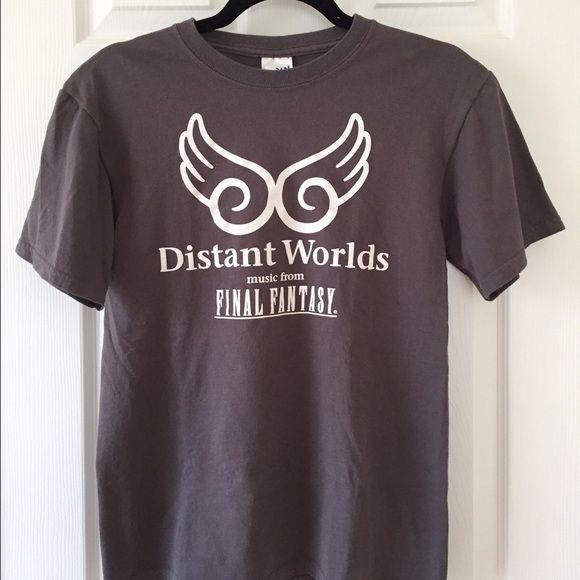 Final Fantasy Distant Worlds T Shirt T Shirt Shirts Mens Tops