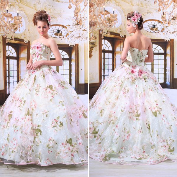 22 Gorgeous Floral Wedding Dresses Blooming With New Details Praise Wedding Floral Wedding Dress Wedding Dress Patterns Wedding Dresses
