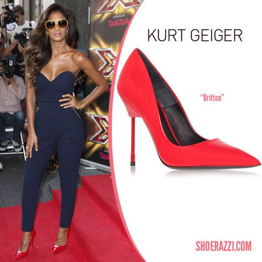 c4a436cd4a Kurt-Geiger-Britton-red-pumps-Nicole-Scherzinger | Celebrity shoes ...
