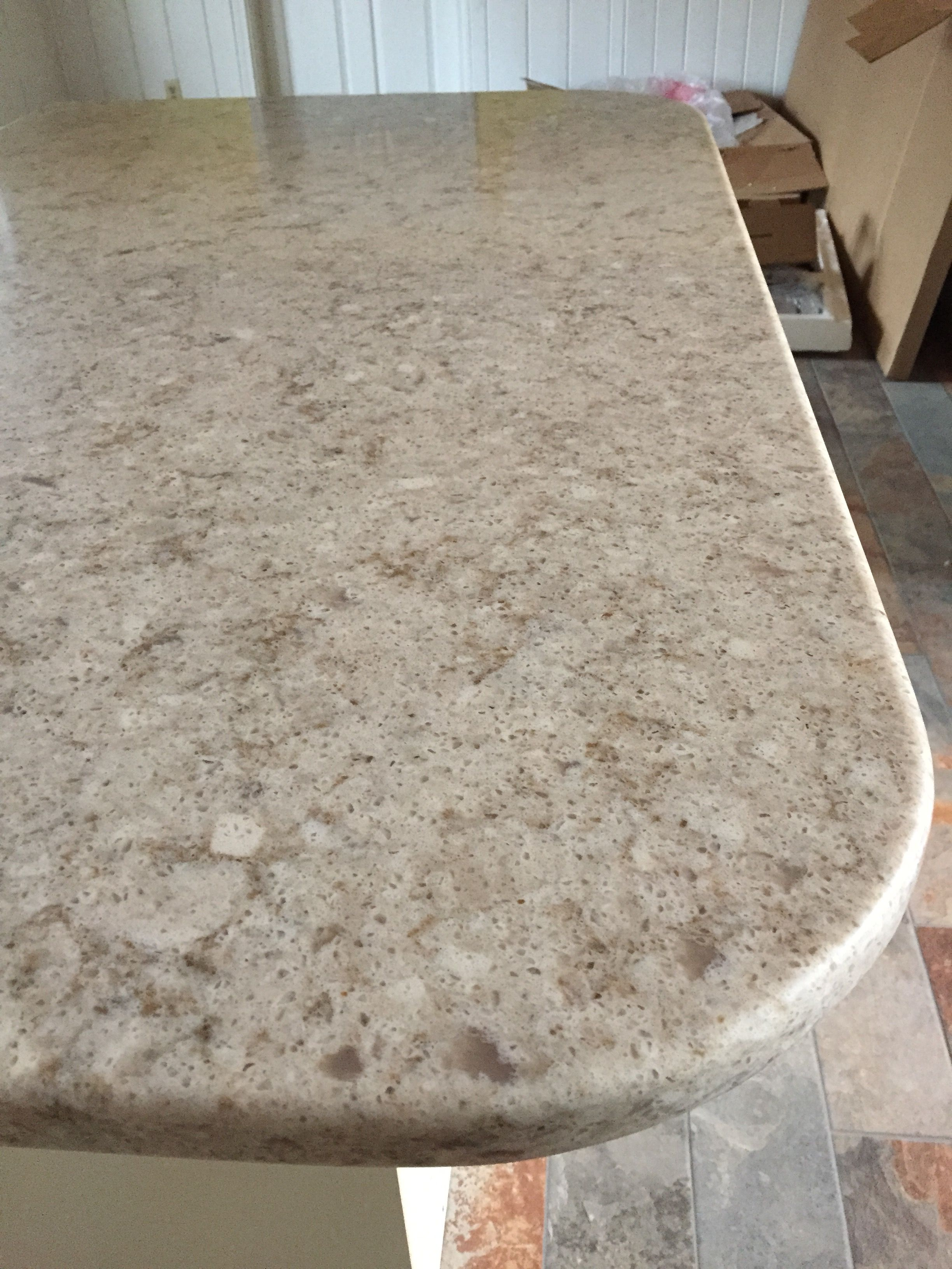 New Quartz Countertop Installed... Silestone Quasar ENGINEERED QUARTZ  COUNTERTOP