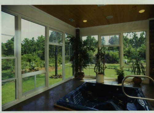Eze Breeze Porches Pgt Sliding Panels Are Featured In Th Taylor Home